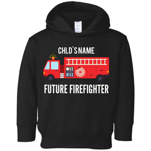 Personalized Future Firefighter Toddler Fleece Hoodie by Rabbit Skins