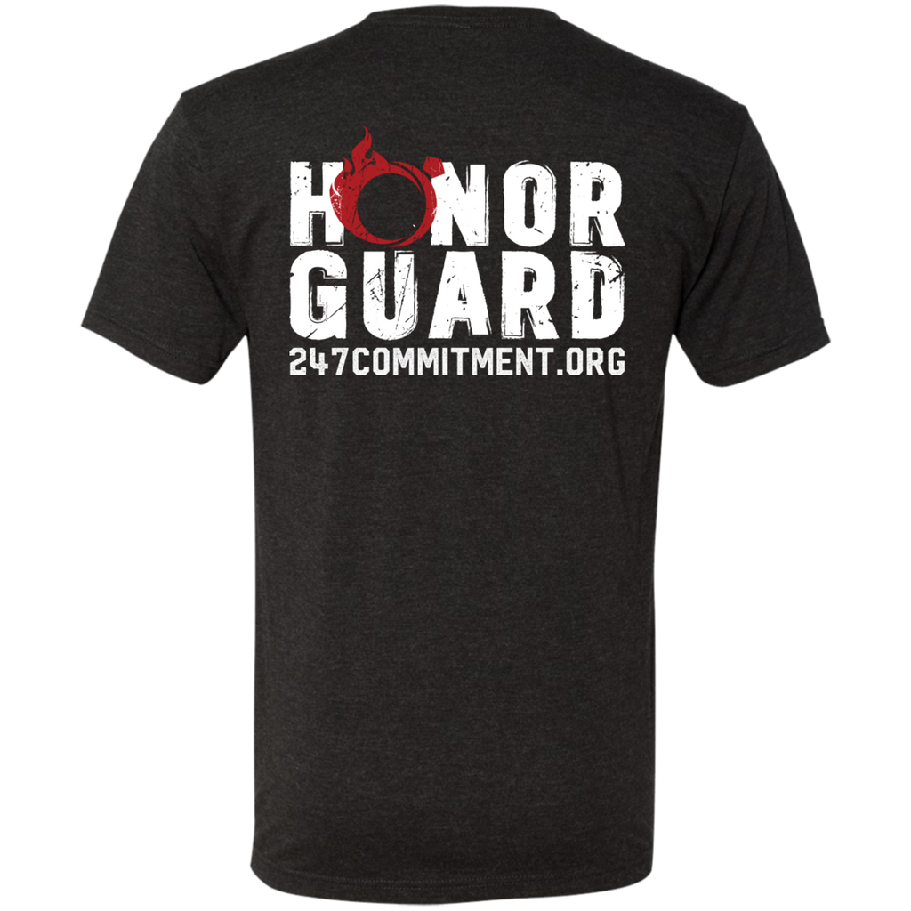 Honor Guard Short Sleeve Tee Front and Back Design