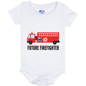 6 Month Baby Future Firefighter Onesie
