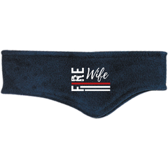 FIRE WIFE FLAG Winter Fleece Headband