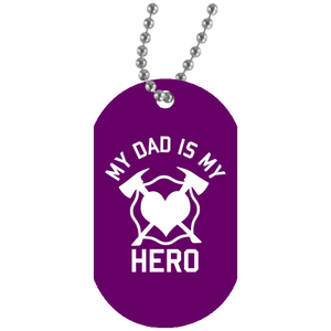 Dad is my Hero Fire Kid Dog Tag