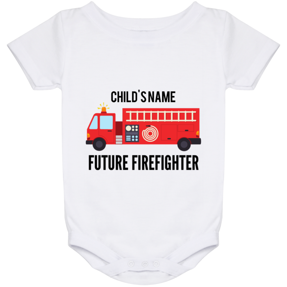 Personalized {24 Month Baby}Future Firefighter Onesie