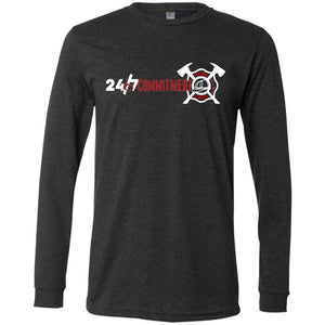 The Official 24/7 COMMITMENT Bella + Canvas Men's Jersey LS T-Shirt
