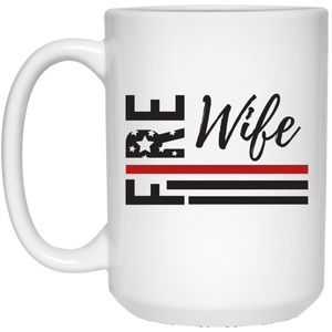 Fire Wife Flag 15 oz. Mug