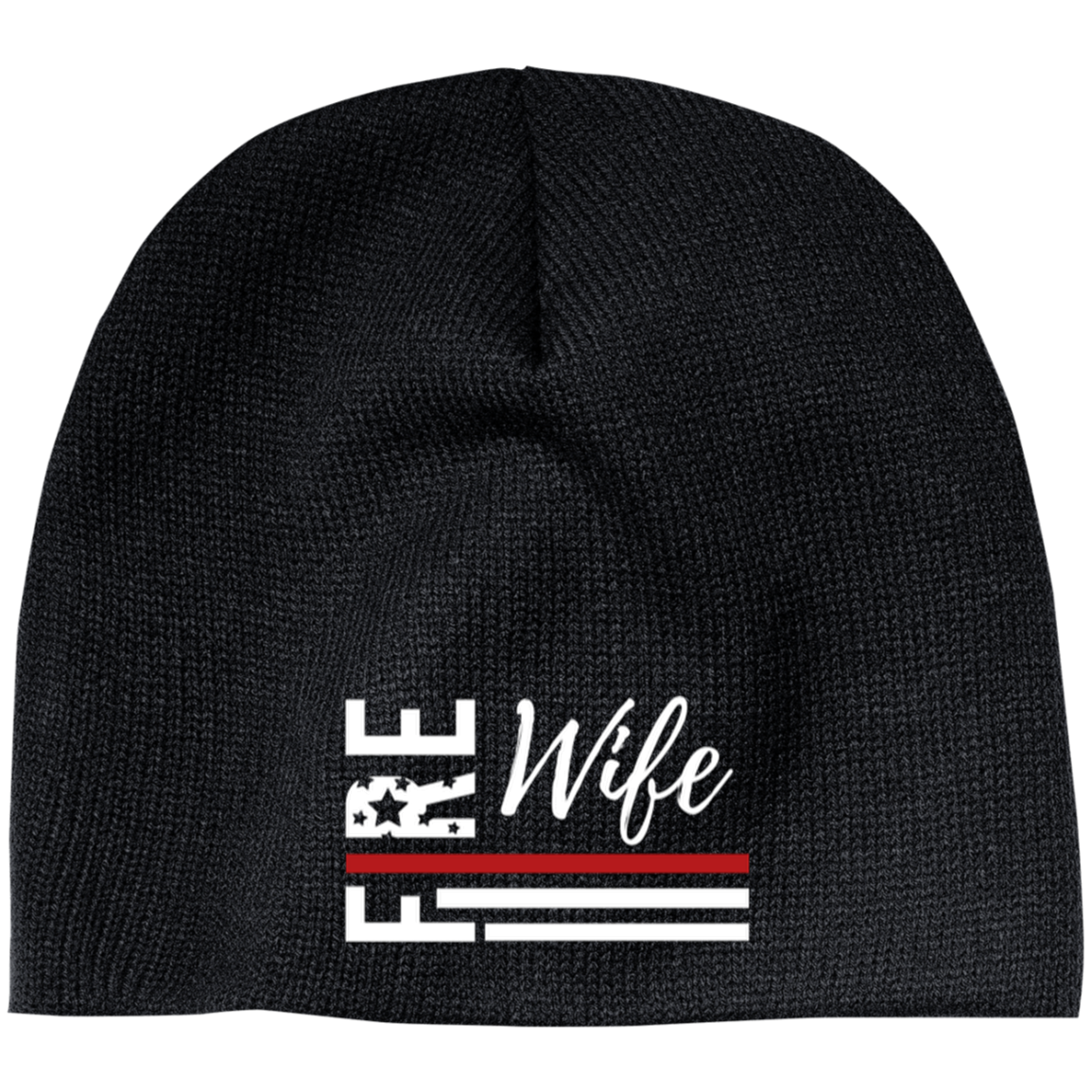 FIRE WIFE FLAG 100% Acrylic Beanie