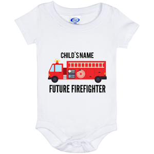 Personalized {6 Month Baby} Future Firefighter Onesie