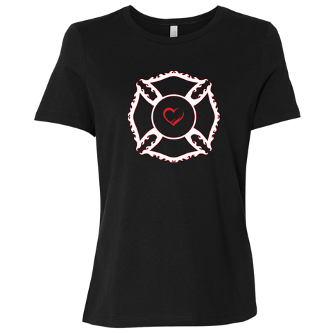 Maltese Heart - Ladies' Relaxed Jersey Tee