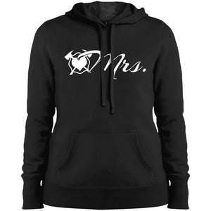 MRS. Maltese Heart Ladies' Pullover Hooded Sweatshirt