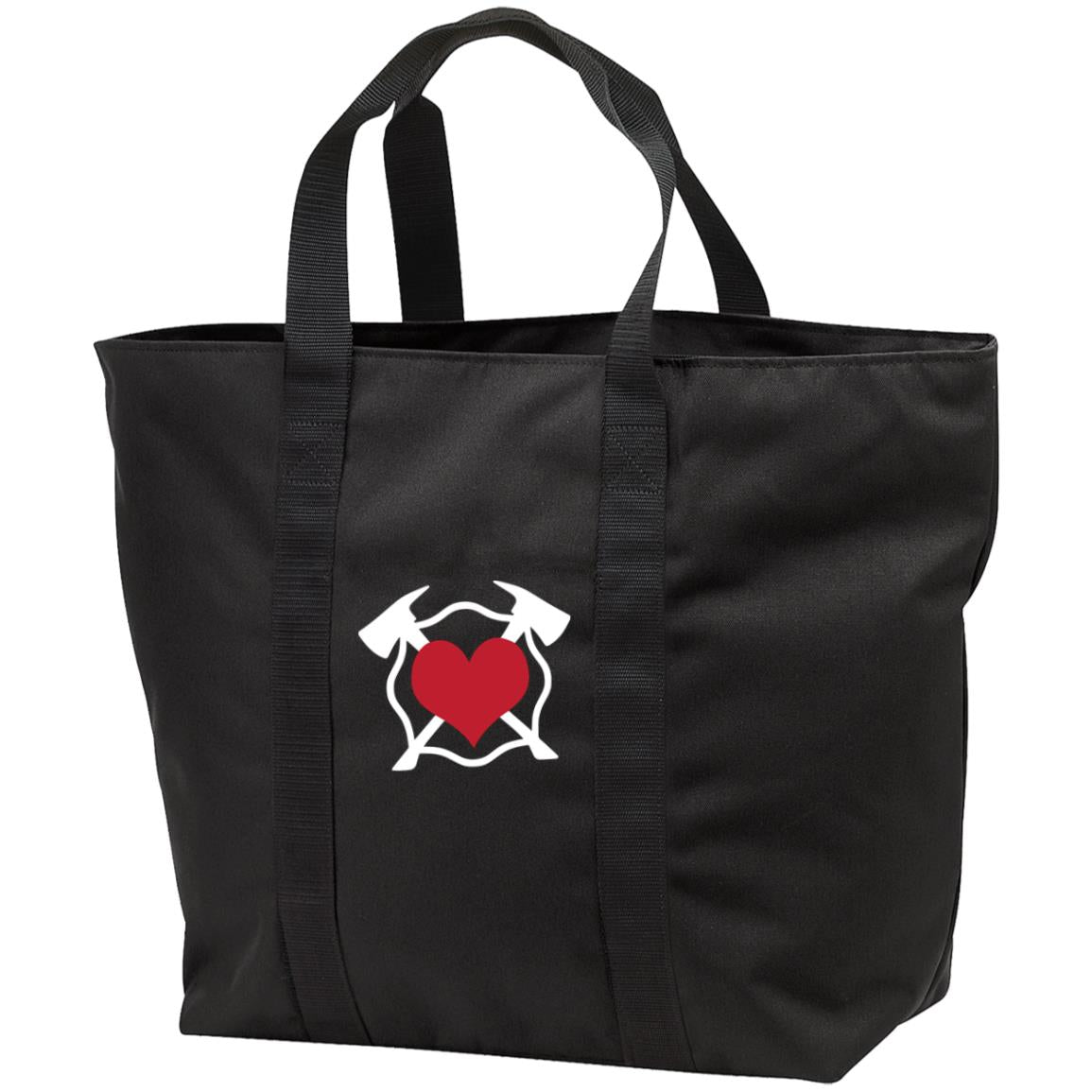 Embroidered Maltese Heart B5000 Port & Co. All Purpose Tote Bag