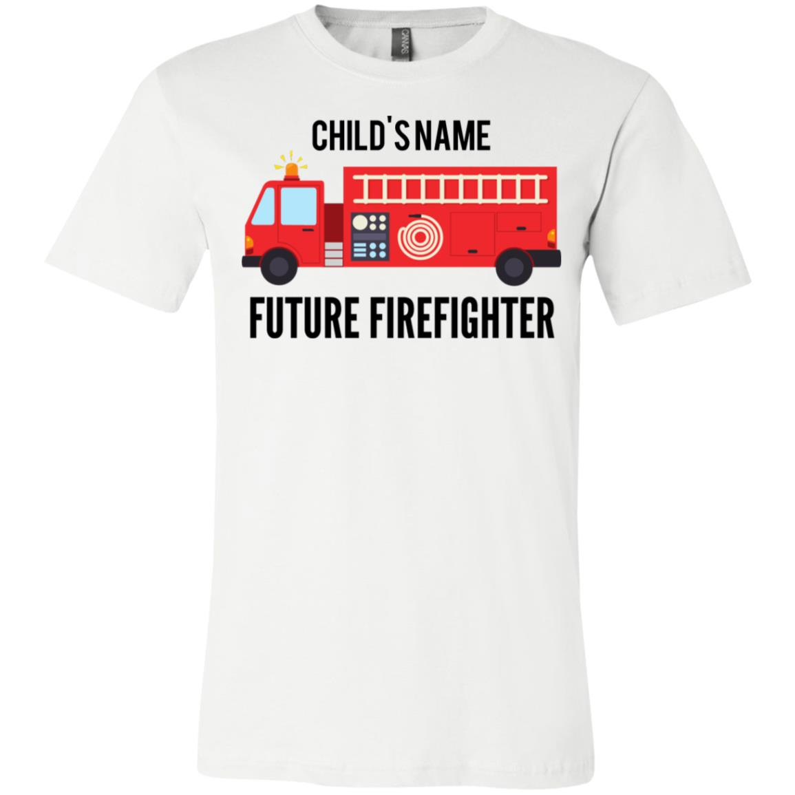 Personalized Future Firefighter Youth Jersey Short Sleeve T-Shirt by Bella + Canvas