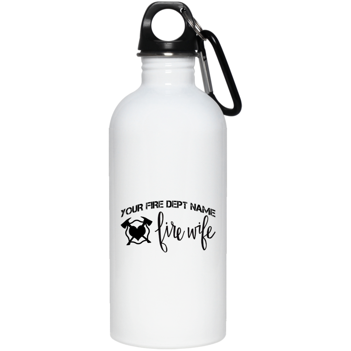 Personalized Fire Wife 20 oz. Stainless Steel Water Bottle