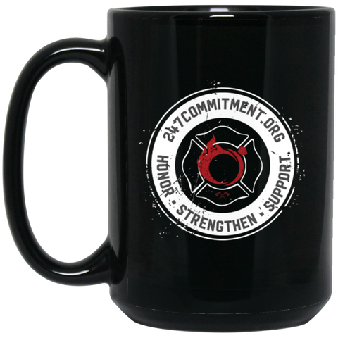 24-7 Commitment 15 oz. Black Mug