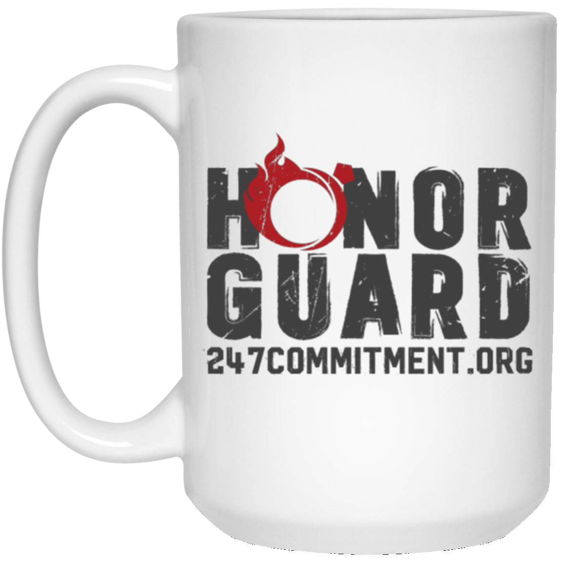 Honor Guard 15 oz. White Mug