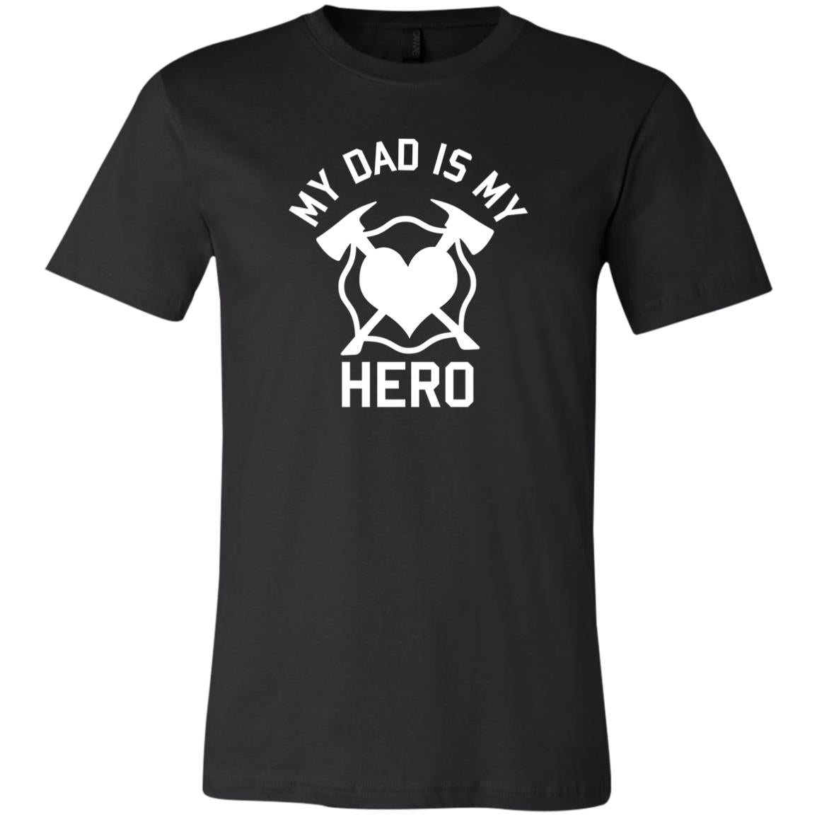 Youth My Dad is my Hero 3001Y Bella + Canvas Youth Jersey Short Sleeve T-Shirt