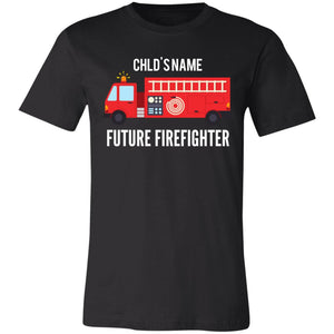 Personalized Future Firefighter  Unisex Jersey Short-Sleeve T-Shirt by Bella + Canva