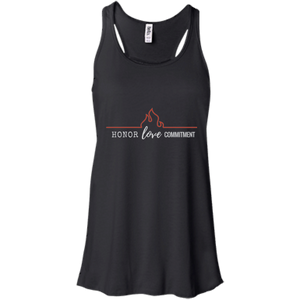 Honor Love Commitment Flowy Racerback Tank