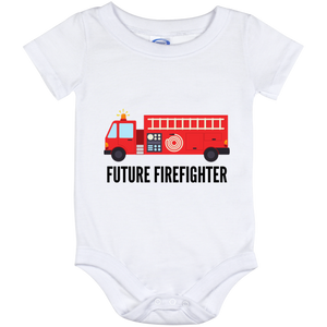 12 Month Baby Future Firefighter Onesie