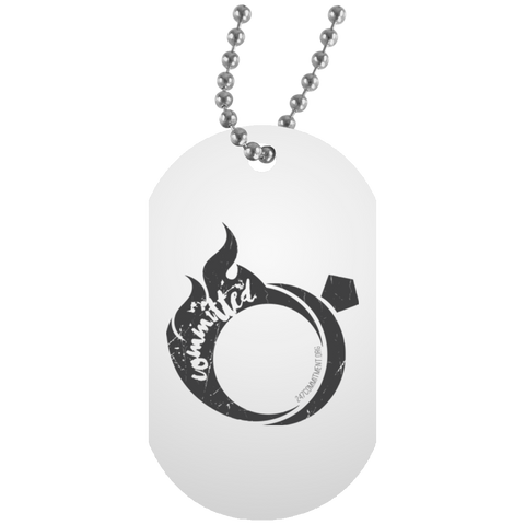COMMITMENT RING White Dog Tag