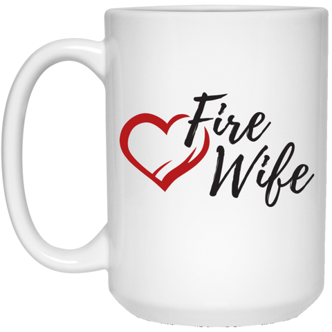 Fire Wife Heart 15 oz. Mug