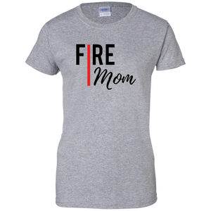 FIRE MOM Gildan Ladies' 100% Cotton T-Shirt