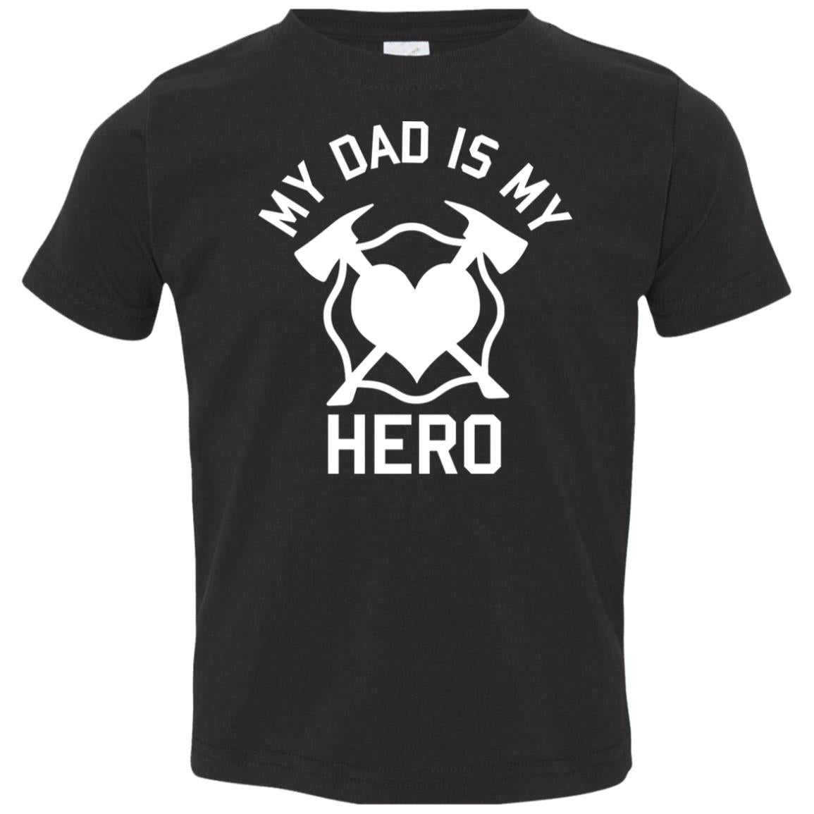 Dad is my Hero Toddler Jersey T-Shirt