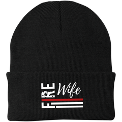 FIRE WIFE FLAG Winter Knit Cap