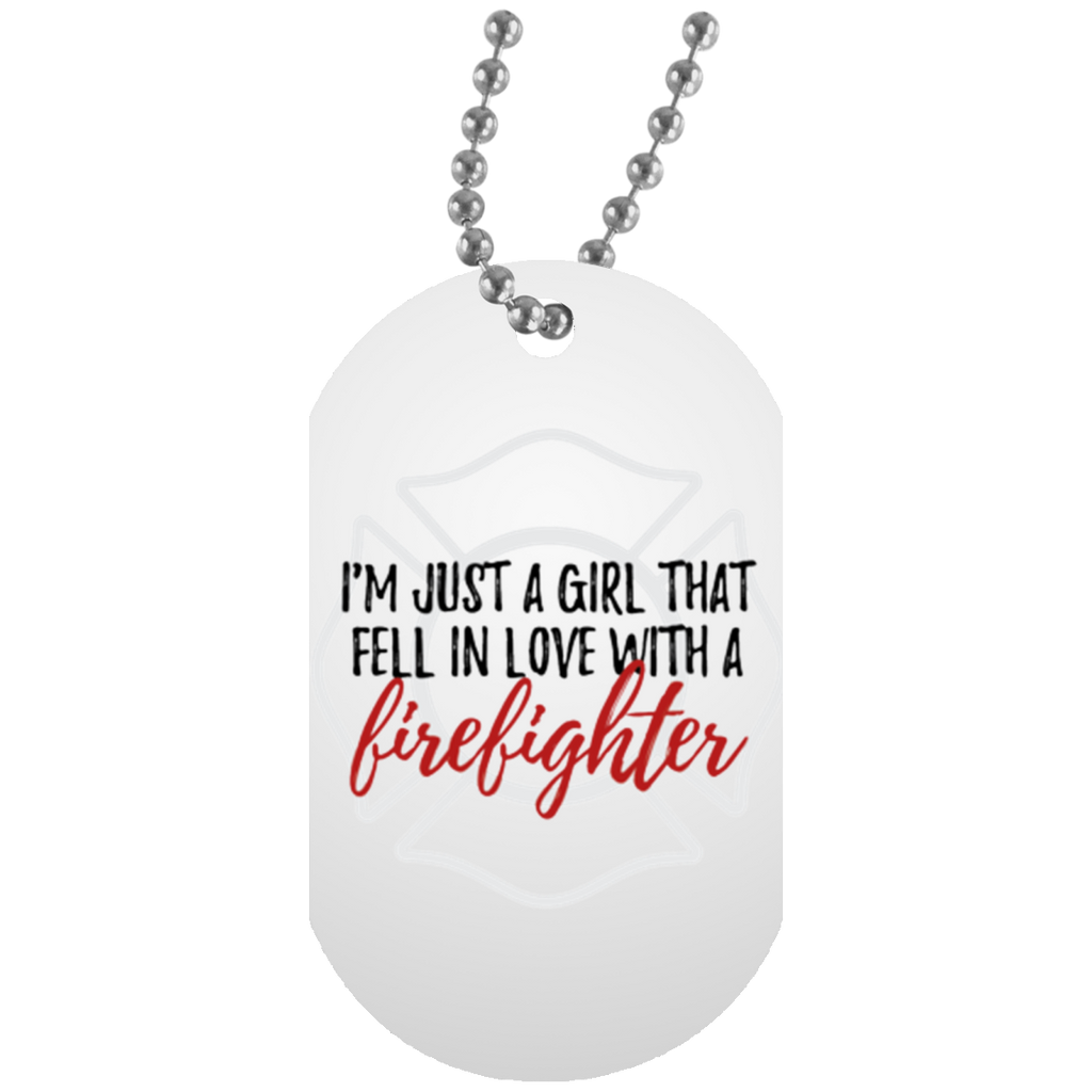 FELL IN LOVE WITH A FF White Dog Tag