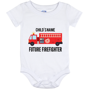 Personalized {12 Month Baby} Future Firefighter Onesie