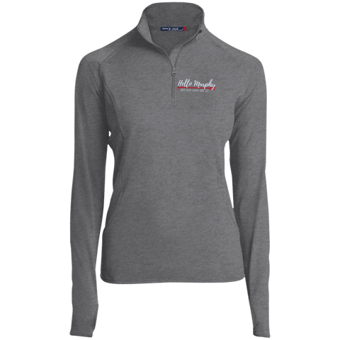 Hello Murphy Embroidered  Sport-Tek Women's 1/2 Zip Performance Pullover