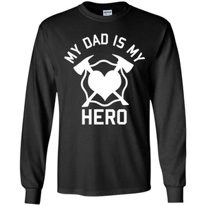 Dad is my Hero Youth LS T-Shirt by Gildan