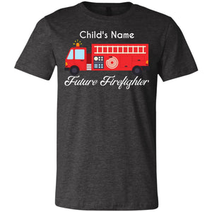 Personalized Script Future Firefighter Youth Jersey Short Sleeve T-Shirt by Bella + Canvas