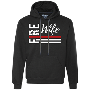 Fire Wife Flag Gildan Heavyweight Pullover Fleece Sweatshirt