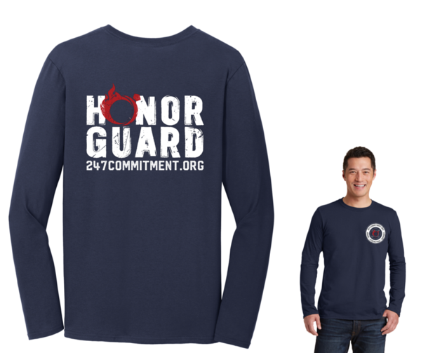 Honor Guard Long Sleeve Tee Front and Back Design