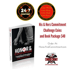 Honor & Commitment Book plus His & Hers Commitment Coins