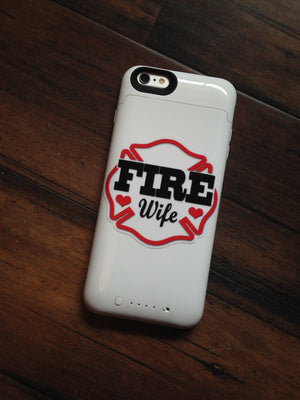 Fire Wife Maltese Decal