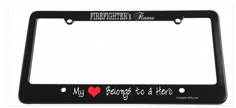 Firefighter's Flame License Plate Cover