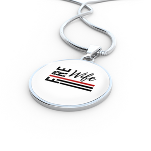 Fire Wife Flag Necklace