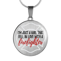 "Exclusive ""I'm Just a Girl Who Fell in Love with a Firefighter"" Necklace"