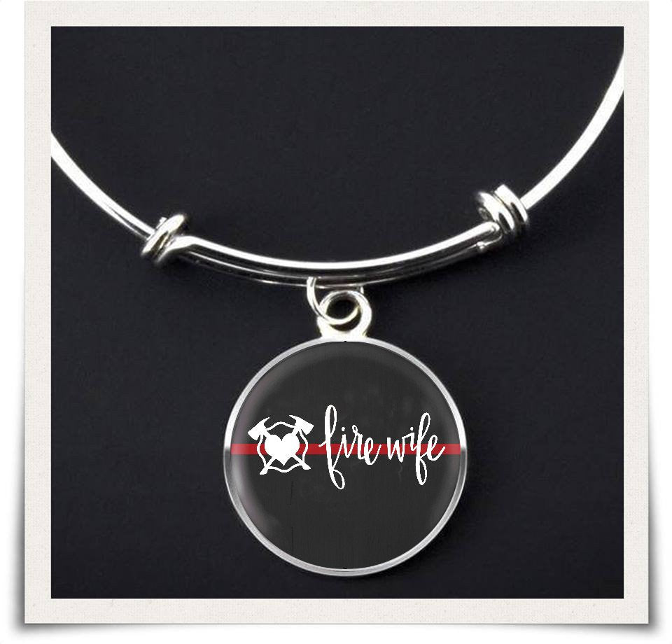 Fire Wife Script Bangle / Necklace or Bracelet