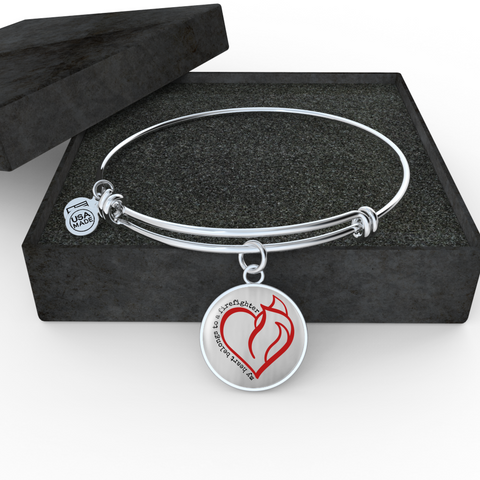 My Heart Belongs Bangle Bracelet