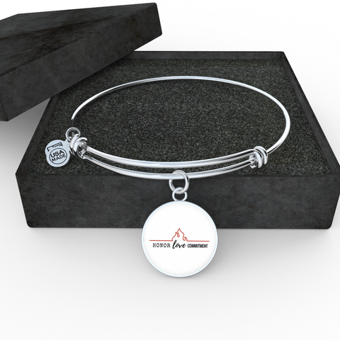 Honor Love Commitment Bangle Bracelet
