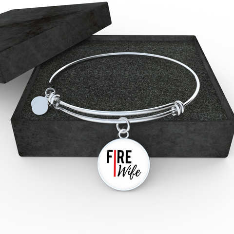 Fire Wife Red Line Bangle Bracelet
