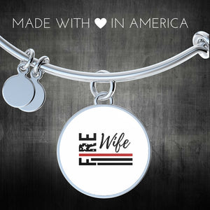 Fire Wife Flag Bangle Bracelet