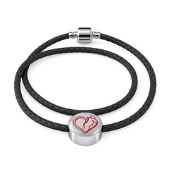 My Heart Belongs Double Braided Bracelet