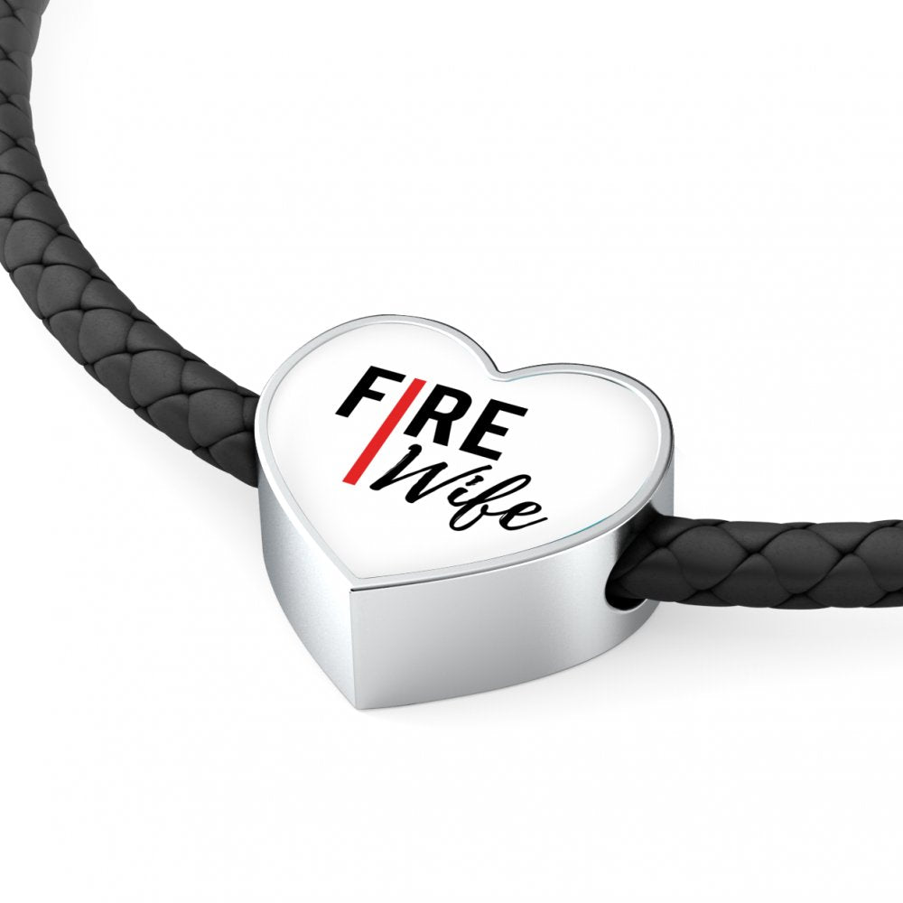 Fire Wife Red Line Design - Bangle - Braided Bracelets