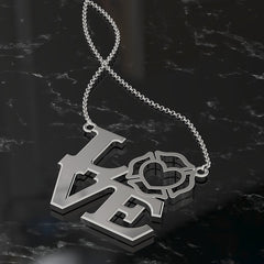 Firefighter Wife LOVE Pendant