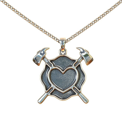 Maltese Heart Shield Pendant