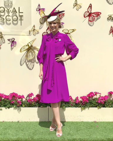 Charlotte Hawkins wears Awon Golding for Ascot
