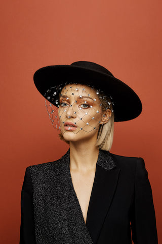 Constellation boater by Awon Golding Millinery
