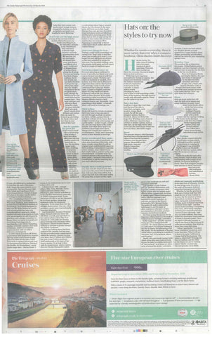 Awon Golding Millinery in the Daily Telegraph
